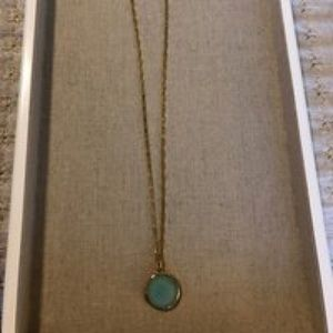 Stella & Dot Sentiment Stone Locket with Chain